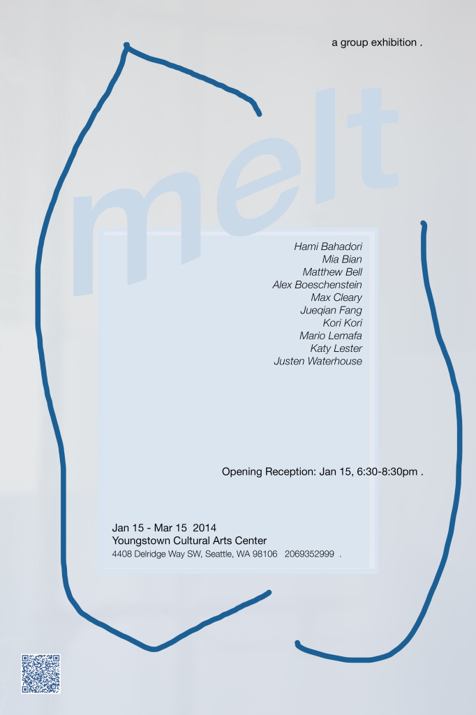 melt poster with qr
